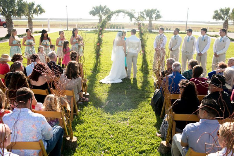 Country themed wedding on South Padre Island