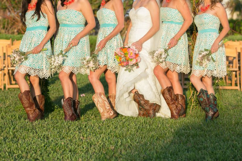 South Padre Island country themed wedding
